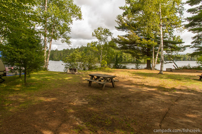 Campsite Photo of Site 234 at Fish Creek Pond Campground, New York - Looking at Site from Part Way In