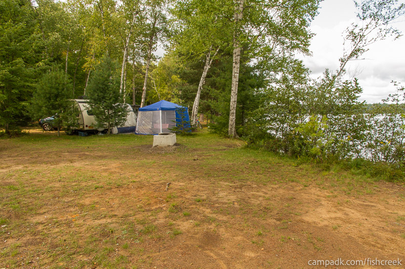 Campsite Photo of Site 234 at Fish Creek Pond Campground, New York - Cross Site View