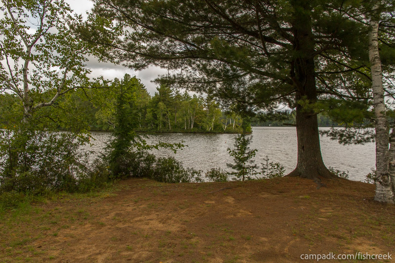 Campsite Photo of Site 234 at Fish Creek Pond Campground, New York - View from Shoreline