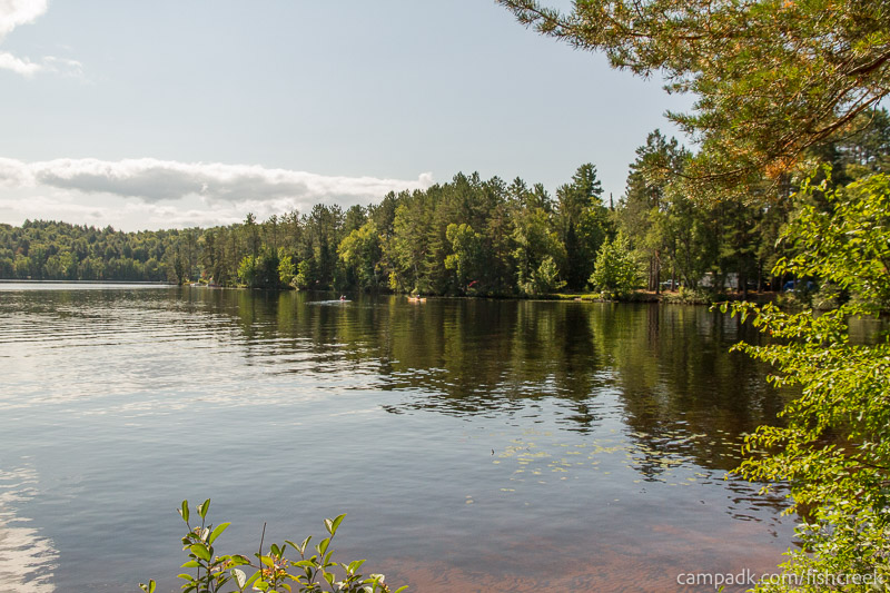 Campsite Photo of Site 261 at Fish Creek Pond Campground, New York - View from Shoreline