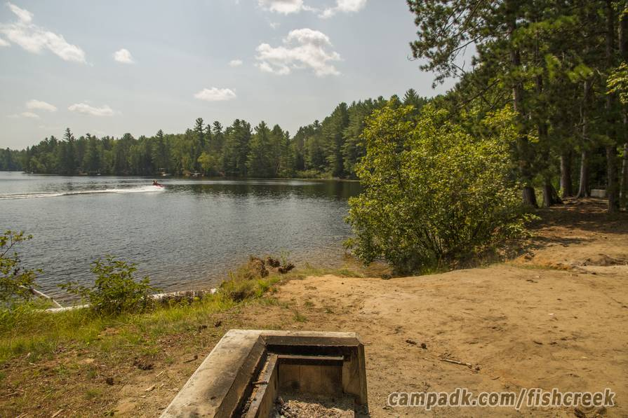 Campsite Photo of Site 121 at Fish Creek Pond Campground, New York - Cross Site View