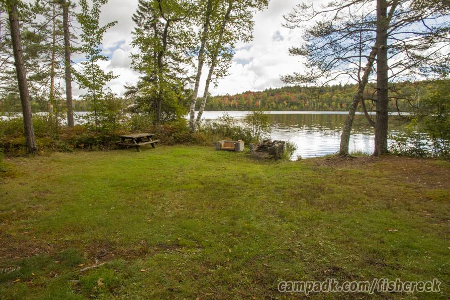Campsite Photo of Site 289 at Fish Creek Pond Campground, New York - Fireplace View (New)