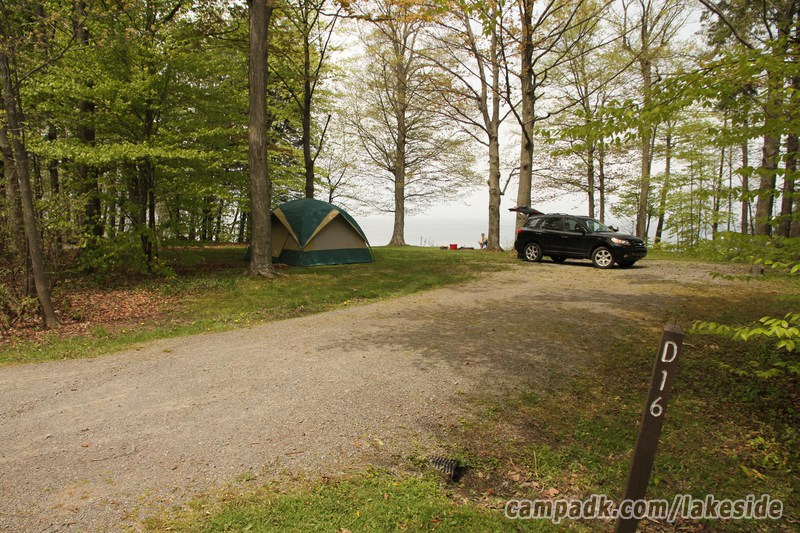 Campsite Photo Of Site D16 At Lakeside State Park New York Looking
