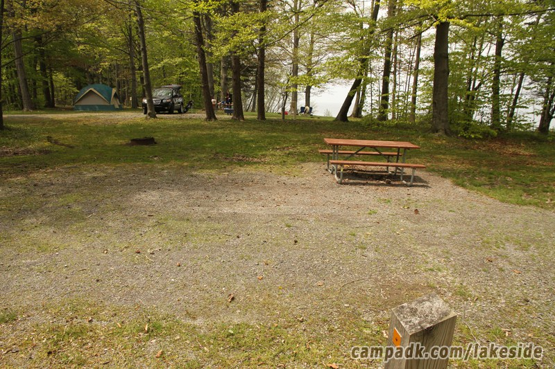 Campsite Photo Of Site D15 At Lakeside State Park New York Cross View