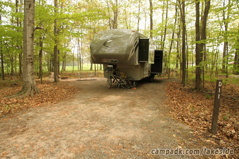 Campsite Photo Of Site D11 At Lakeside State Park New York Looking