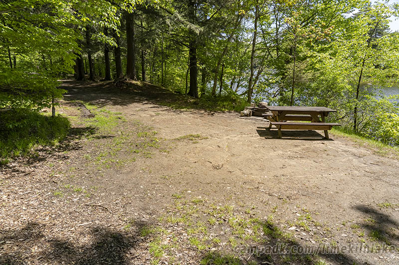 Campsite Photo of Site 5 at Limekiln Lake Campground, New York - Cross Site View