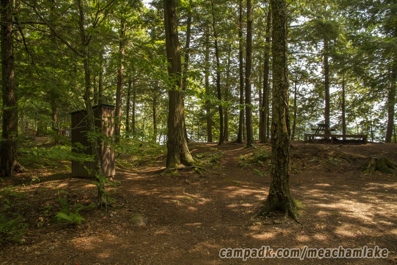 Campsite Photo of Site 186 at Meacham Lake Campground, New York - Looking at Site from Part Way In