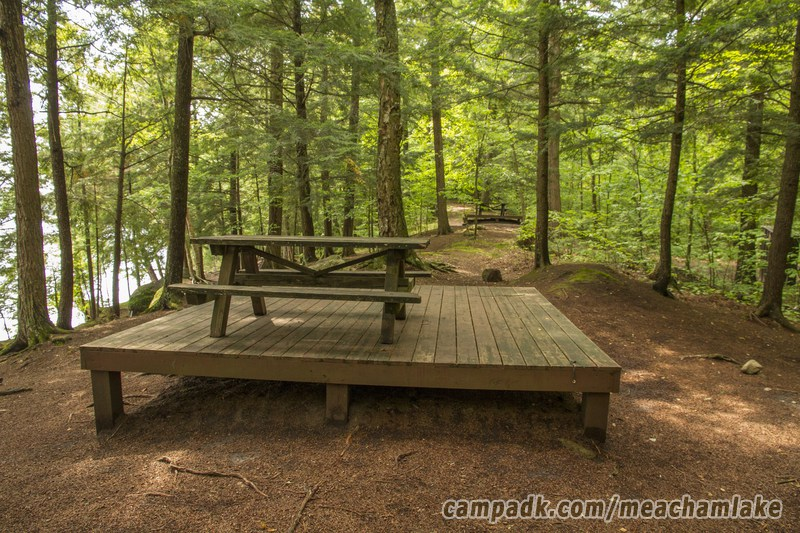 Campsite Photo of Site 186 at Meacham Lake Campground, New York - Cross Site View