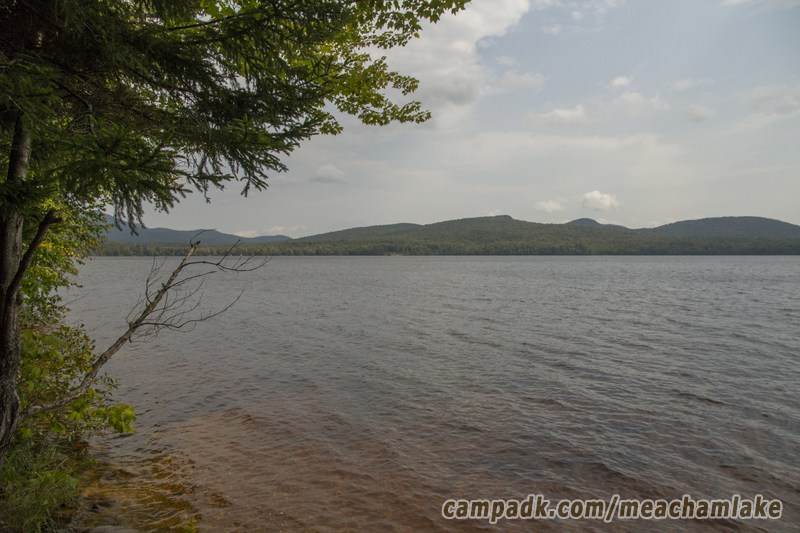 Campsite Photo of Site 186 at Meacham Lake Campground, New York - View from Shoreline