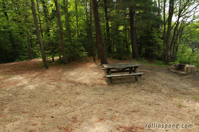 Campsite Photo of Site 173 at Rollins Pond Campground, New York - Cross Site View