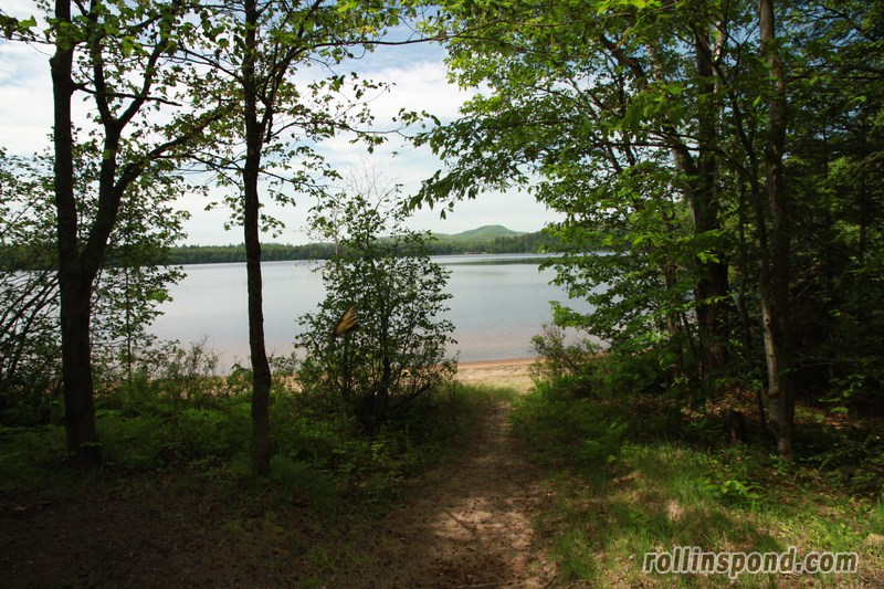 Campsite Photo of Site 173 at Rollins Pond Campground, New York - Pathway Down to Water