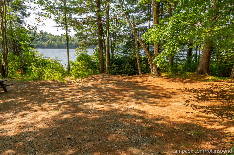 Campsite Photo of Site 13 at Rollins Pond Campground, New York - Looking at Site from Part Way In