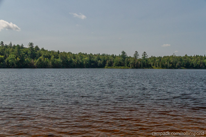 Campsite Photo of Site 13 at Rollins Pond Campground, New York - View from Shoreline