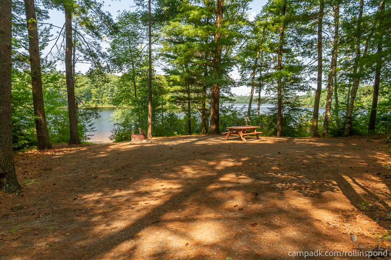 Campsite Photo of Site 36 at Rollins Pond Campground, New York - Looking at Site from Part Way In