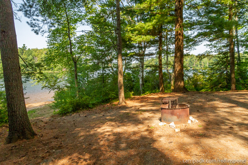 Campsite Photo of Site 36 at Rollins Pond Campground, New York - Cross Site View