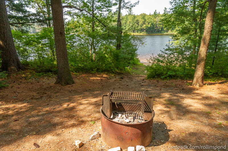 Campsite Photo of Site 36 at Rollins Pond Campground, New York - Fireplace View