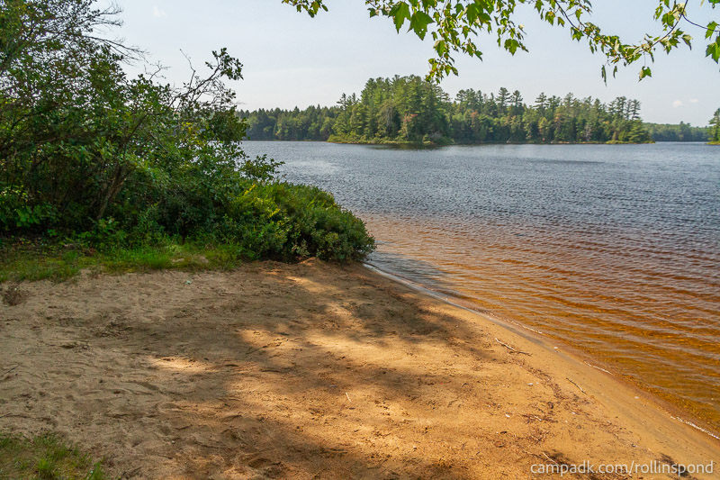 Campsite Photo of Site 36 at Rollins Pond Campground, New York - Shoreline
