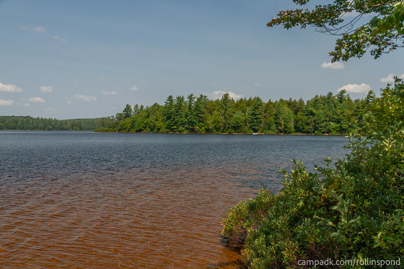 Campsite Photo of Site 36 at Rollins Pond Campground, New York - View from Shoreline