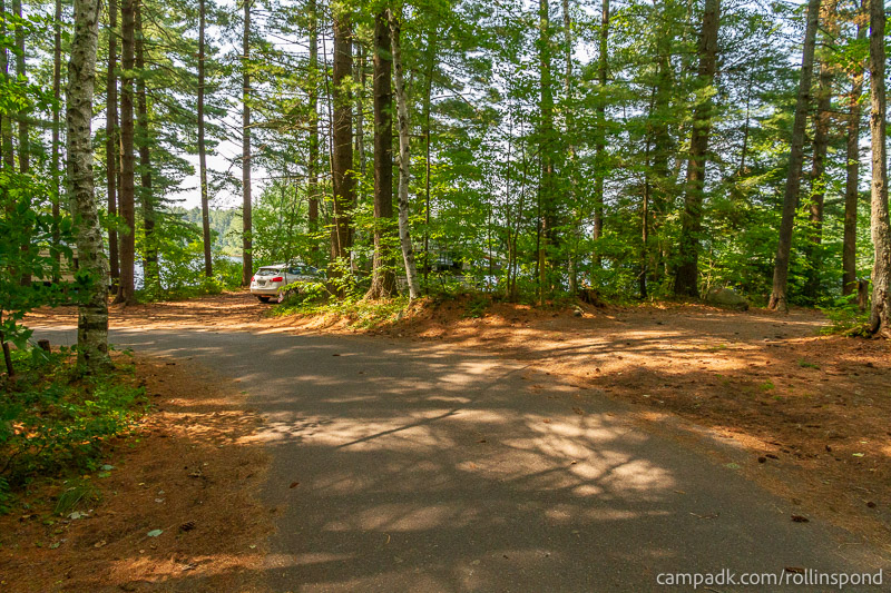 Campsite Photo of Site 36 at Rollins Pond Campground, New York - View Down Road from Campsite