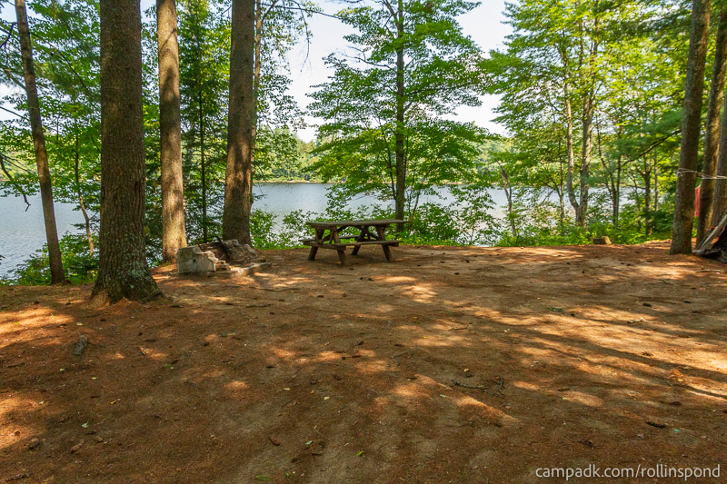 Campsite Photo of Site 37 at Rollins Pond Campground, New York - Looking at Site from Part Way In