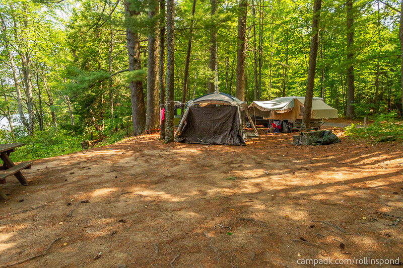 Campsite Photo of Site 37 at Rollins Pond Campground, New York - Cross Site View