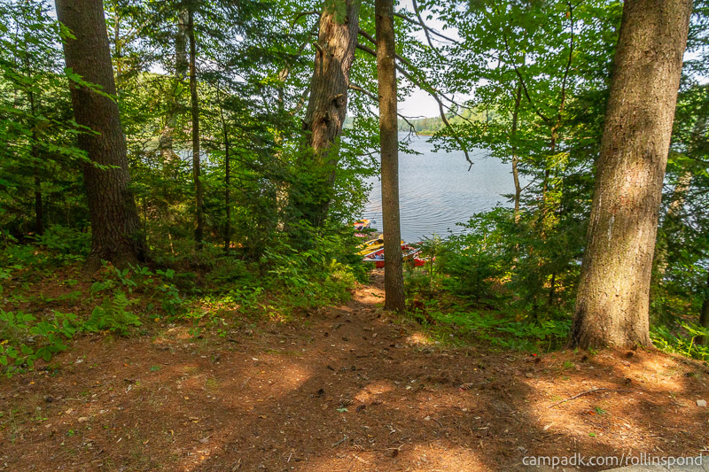 Campsite Photo of Site 37 at Rollins Pond Campground, New York - Pathway Down to Water