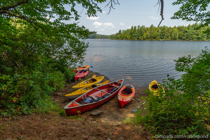 Campsite Photo of Site 37 at Rollins Pond Campground, New York - Shoreline