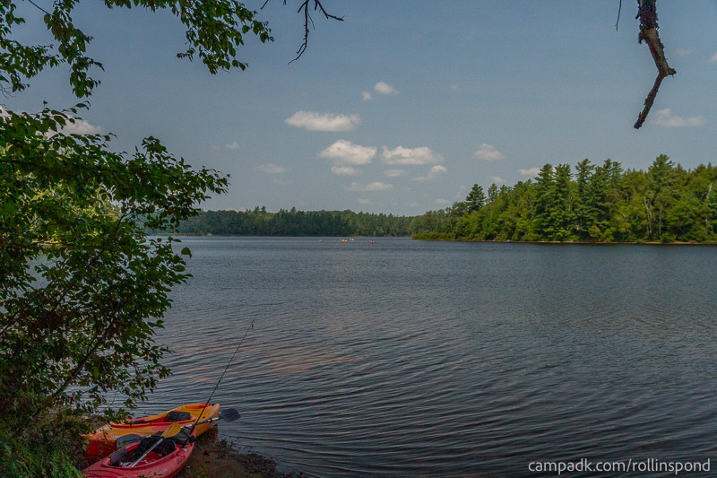 Campsite Photo of Site 37 at Rollins Pond Campground, New York - View from Shoreline