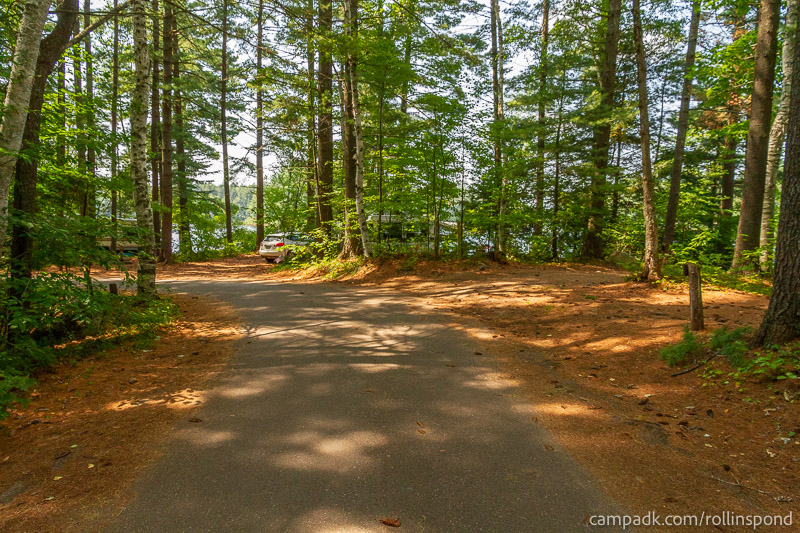 Campsite Photo of Site 37 at Rollins Pond Campground, New York - View Down Road from Campsite