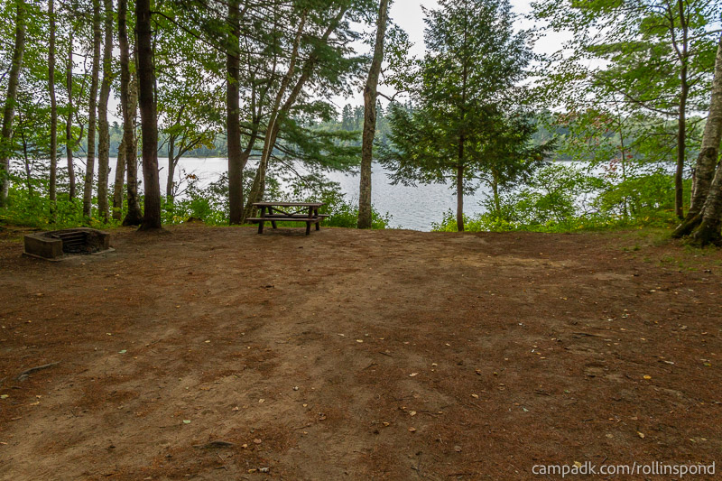 Campsite Photo of Site 16 at Rollins Pond Campground, New York - Looking at Site from Part Way In