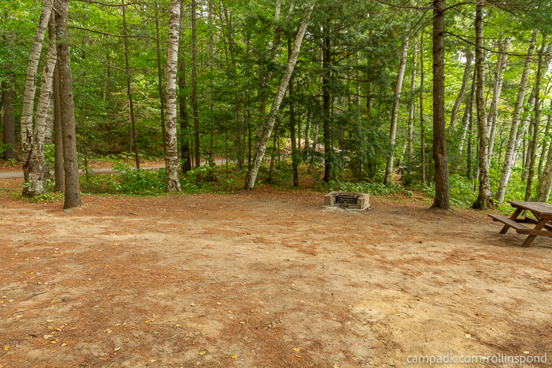Campsite Photo of Site 16 at Rollins Pond Campground, New York - Cross Site View