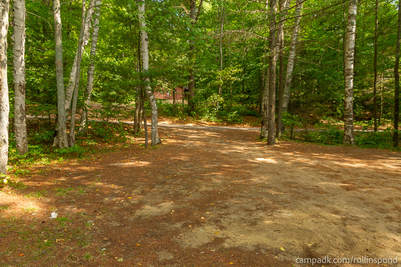 Campsite Photo of Site 16 at Rollins Pond Campground, New York - Looking Back Towards Road