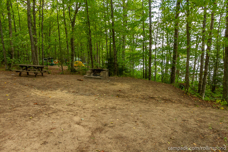 Campsite Photo of Site 50 at Rollins Pond Campground, New York - Cross Site View