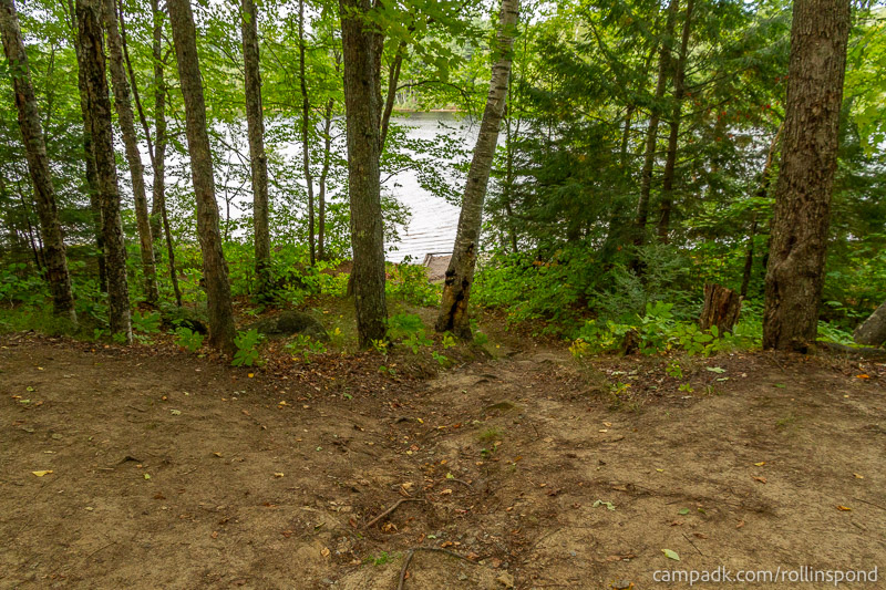 Campsite Photo of Site 50 at Rollins Pond Campground, New York - Pathway Down to Water