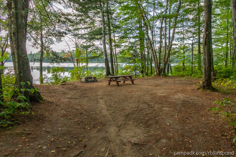 Campsite Photo of Site 8 at Rollins Pond Campground, New York - Looking at Site from Part Way In