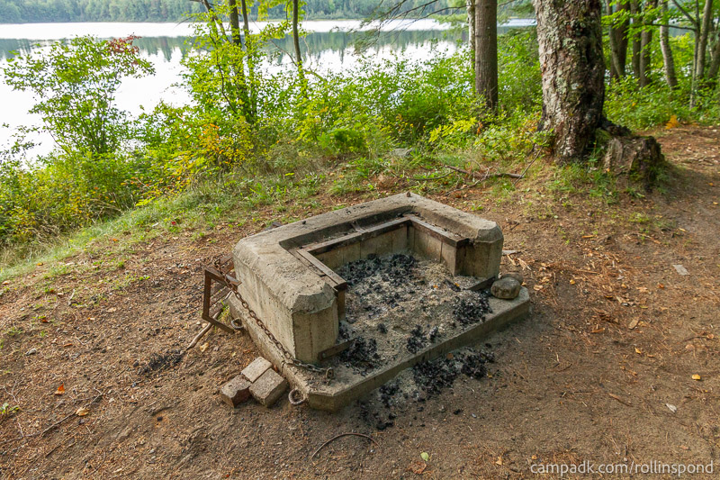 Campsite Photo of Site 8 at Rollins Pond Campground, New York - Fireplace View
