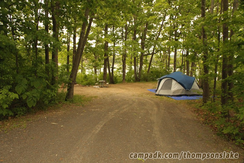 Thompsons Lake Campground Campsite Photos