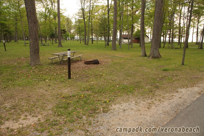 Campsite Photo Of Site 39 At Verona Beach State Park New York Looking